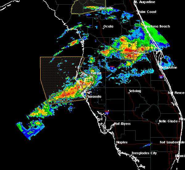 Radar Image for Severe Thunderstorms near St. Pete Beach, FL at 3/20/2018 3:13 PM EDT