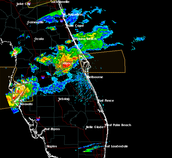 Radar Image for Severe Thunderstorms near Azalea Park, FL at 3/20/2018 3:22 PM EDT