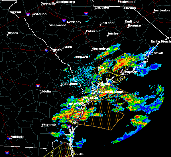 Radar Image for Severe Thunderstorms near Edisto Beach, SC at 3/20/2018 3:23 PM EDT