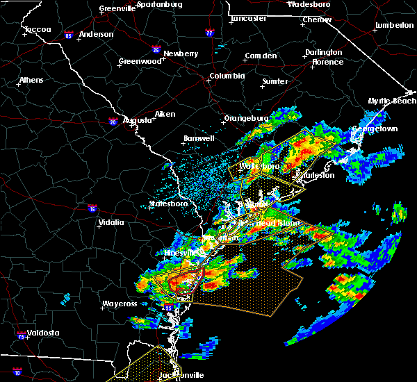 Radar Image for Severe Thunderstorms near Ravenel, SC at 3/20/2018 3:26 PM EDT