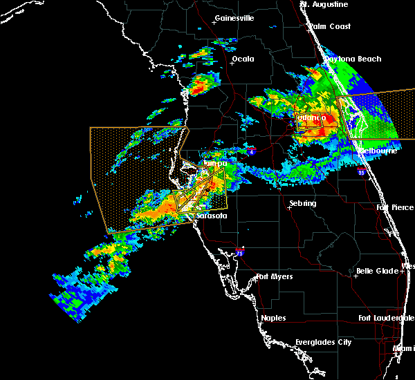 Radar Image for Severe Thunderstorms near Brandon, FL at 3/20/2018 3:38 PM EDT