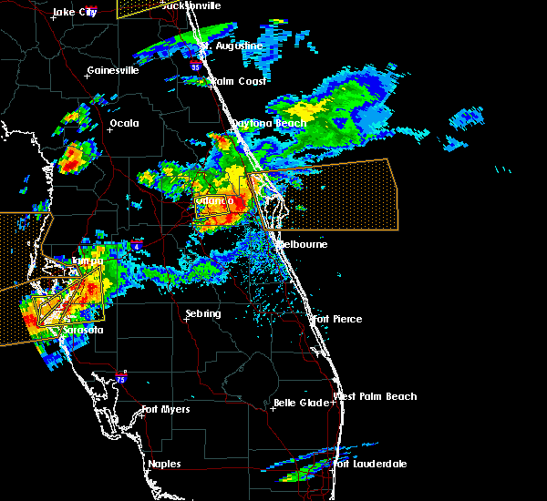 Radar Image for Severe Thunderstorms near Azalea Park, FL at 3/20/2018 3:41 PM EDT