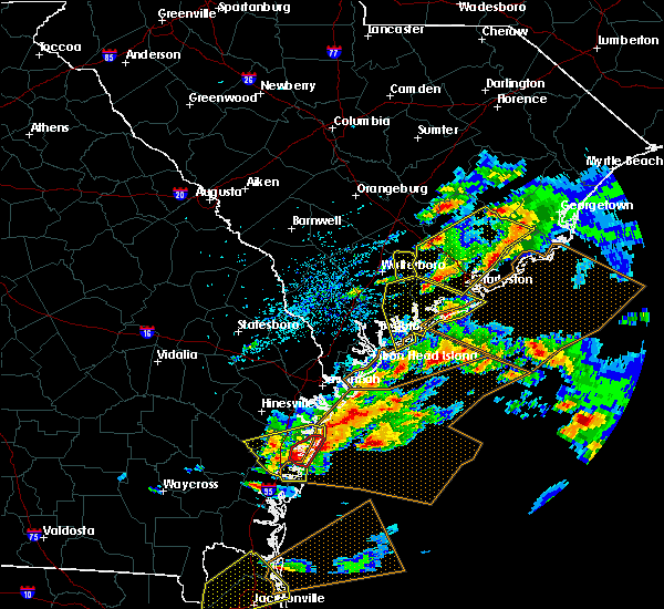 Radar Image for Severe Thunderstorms near Edisto Beach, SC at 3/20/2018 3:44 PM EDT