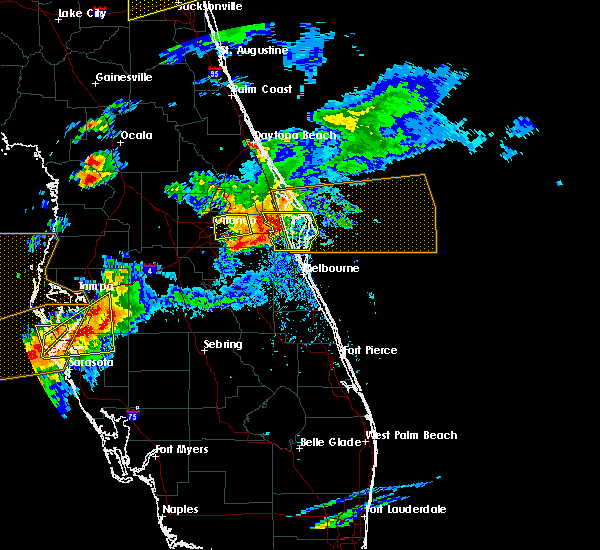 Radar Image for Severe Thunderstorms near Merritt Island, FL at 3/20/2018 3:47 PM EDT