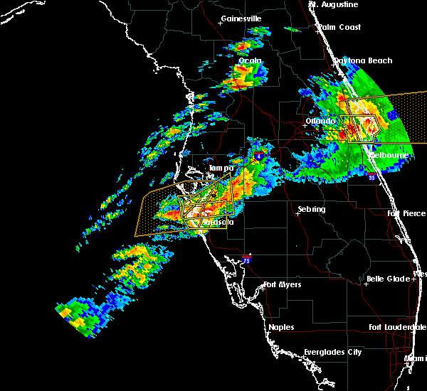 Radar Image for Severe Thunderstorms near Desoto Lakes, FL at 3/20/2018 3:57 PM EDT