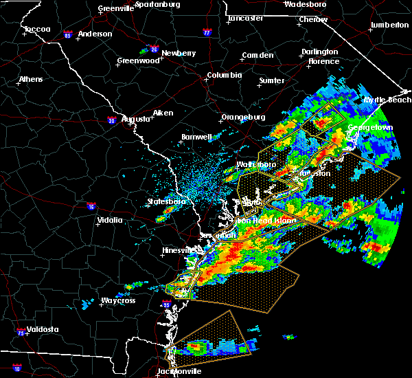 Radar Image for Severe Thunderstorms near North Charleston, SC at 3/20/2018 3:59 PM EDT