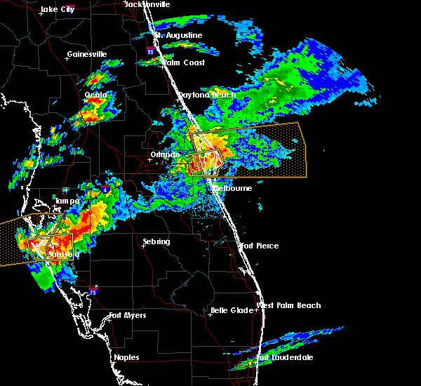 Radar Image for Severe Thunderstorms near Merritt Island, FL at 3/20/2018 4:05 PM EDT