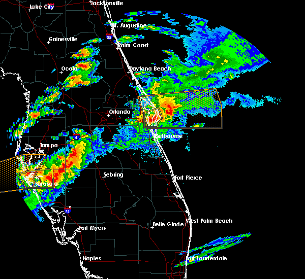 Radar Image for Severe Thunderstorms near Merritt Island, FL at 3/20/2018 4:21 PM EDT