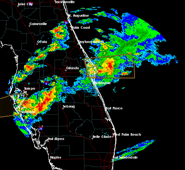 Radar Image for Severe Thunderstorms near Merritt Island, FL at 3/20/2018 4:30 PM EDT