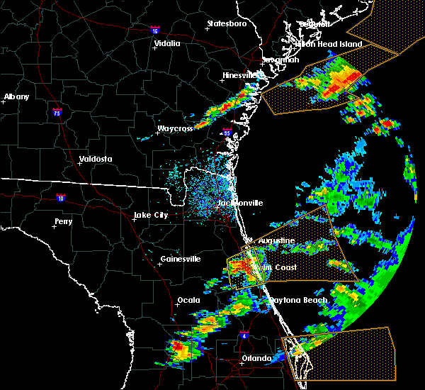 Radar Image for Severe Thunderstorms near Flagler Estates, FL at 3/20/2018 4:45 PM EDT