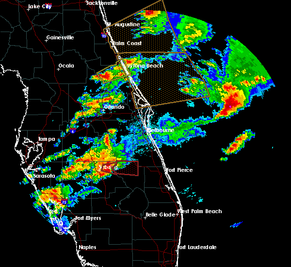 Radar Image for Severe Thunderstorms near Ormond Beach, FL at 3/20/2018 5:36 PM EDT