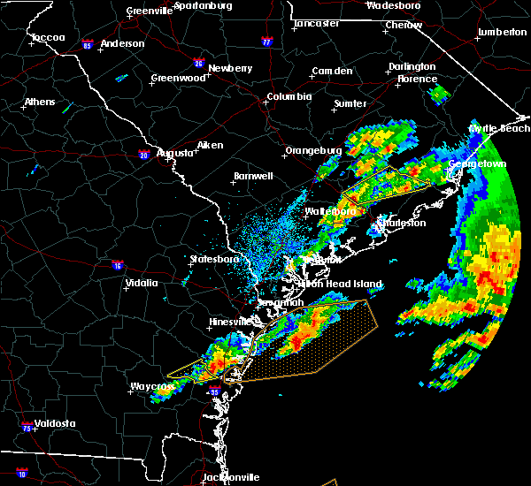 Radar Image for Severe Thunderstorms near Moncks Corner, SC at 3/20/2018 5:48 PM EDT