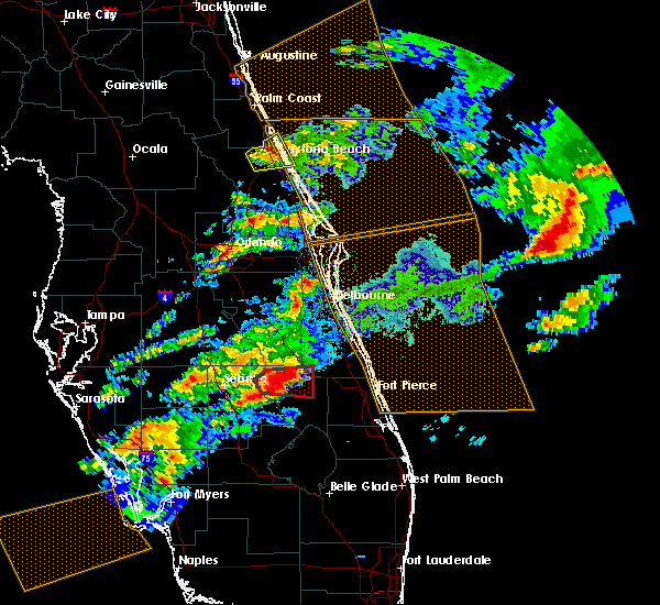 Radar Image for Severe Thunderstorms near South Daytona, FL at 3/20/2018 5:57 PM EDT