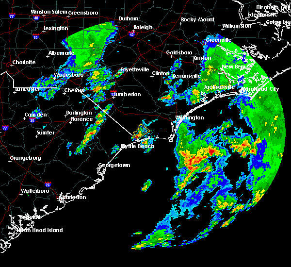 Radar Image for Severe Thunderstorms near Carolina Shores, NC at 3/20/2018 10:11 PM EDT