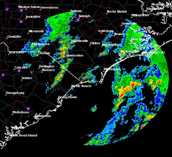 Radar Image for Severe Thunderstorms near Carolina Shores, NC at 3/20/2018 10:28 PM EDT