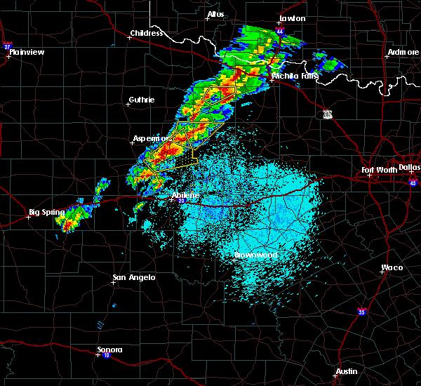 Radar Image for Severe Thunderstorms near Weinert, TX at 3/26/2018 2:15 PM CDT