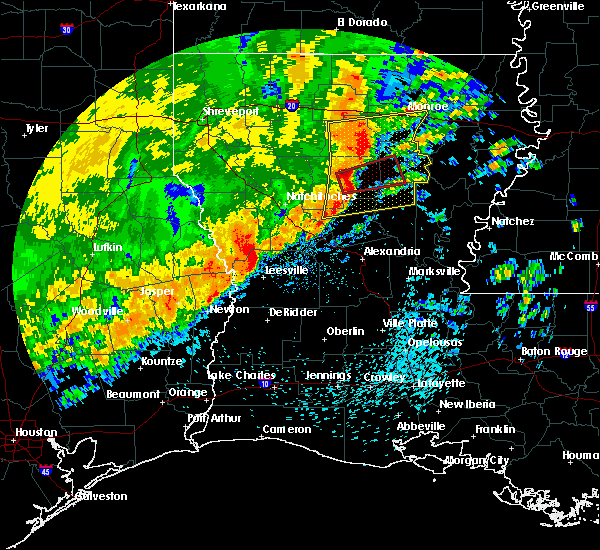 Radar Image for Severe Thunderstorms near Olla, LA at 3/28/2018 4:02 PM CDT