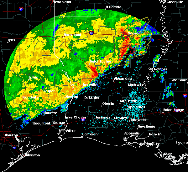 Radar Image for Severe Thunderstorms near Olla, LA at 3/28/2018 4:45 PM CDT