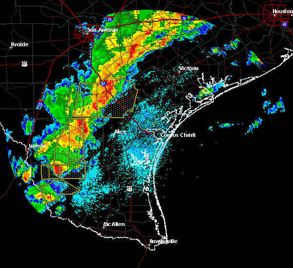 Radar Image for Severe Thunderstorms near Hebbronville, TX at 3/28/2018 11:46 PM CDT