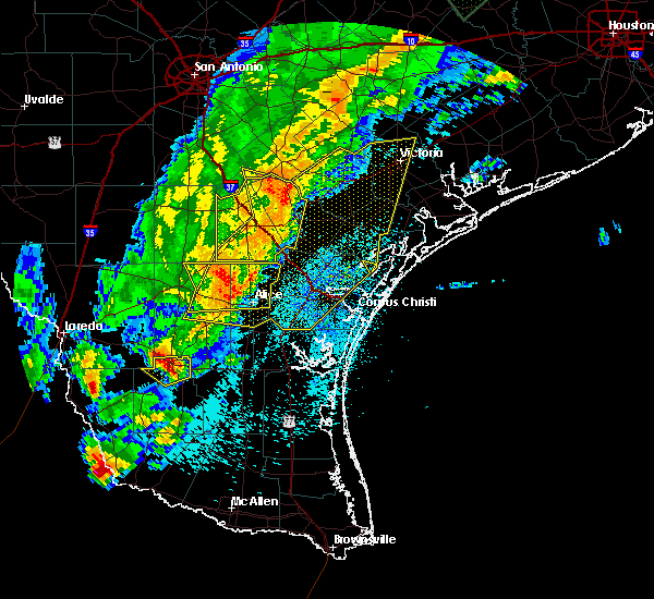 Radar Image for Severe Thunderstorms near Corpus Christi, TX at 3/29/2018 12:17 AM CDT