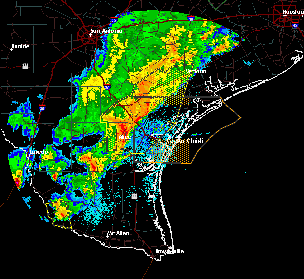 Radar Image for Severe Thunderstorms near Corpus Christi, TX at 3/29/2018 12:38 AM CDT