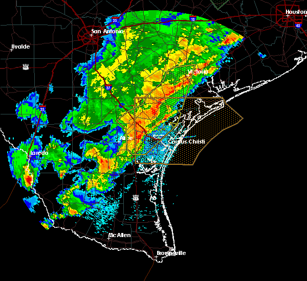 Radar Image for Severe Thunderstorms near Corpus Christi, TX at 3/29/2018 12:50 AM CDT