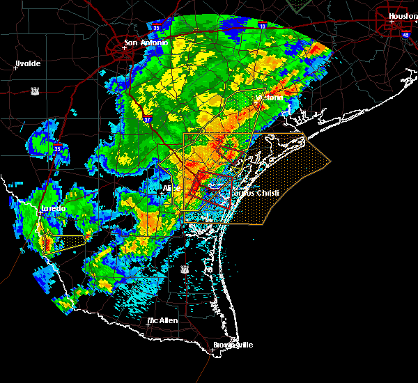 Radar Image for Severe Thunderstorms near Refugio, TX at 3/29/2018 12:59 AM CDT