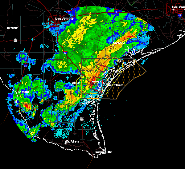 Radar Image for Severe Thunderstorms near Corpus Christi, TX at 3/29/2018 1:08 AM CDT