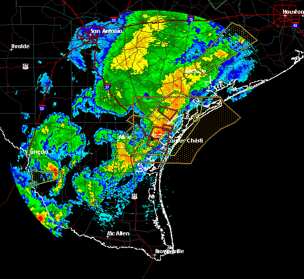 Radar Image for Severe Thunderstorms near Port Aransas, TX at 3/29/2018 1:17 AM CDT