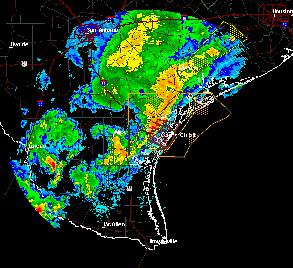 Radar Image for Severe Thunderstorms near Port Aransas, TX at 3/29/2018 1:21 AM CDT