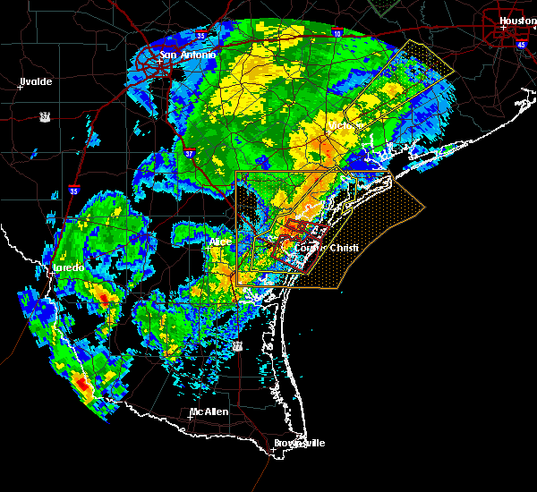 Radar Image for Severe Thunderstorms near Port Aransas, TX at 3/29/2018 1:24 AM CDT