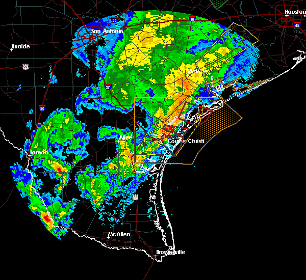Radar Image for Severe Thunderstorms near Port Aransas, TX at 3/29/2018 1:30 AM CDT