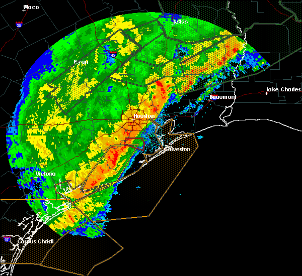 Radar Image for Severe Thunderstorms near Bay City, TX at 3/29/2018 2:23 AM CDT