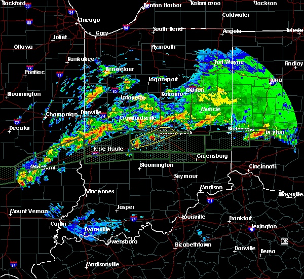 Radar Image for Severe Thunderstorms near Indianapolis, IN at 4/3/2018 11:45 AM EDT