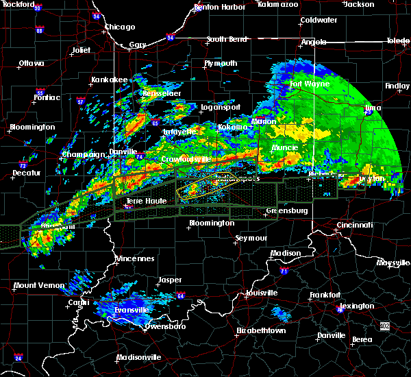 Radar Image for Severe Thunderstorms near Indianapolis, IN at 4/3/2018 11:57 AM EDT
