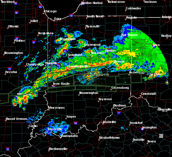 Radar Image for Severe Thunderstorms near Indianapolis, IN at 4/3/2018 12:09 PM EDT