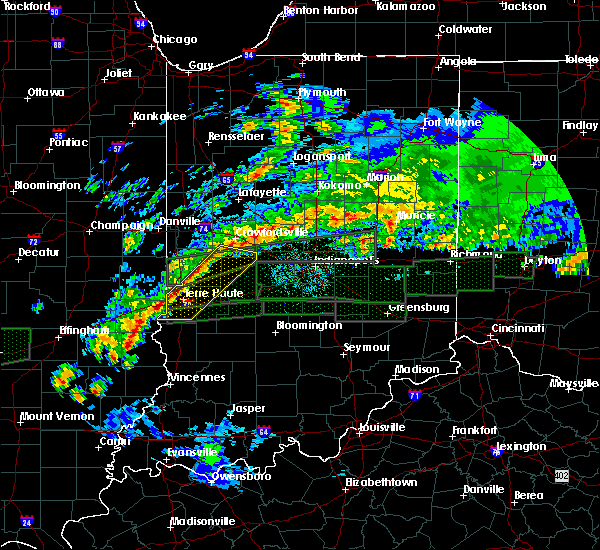 Radar Image for Severe Thunderstorms near Tecumseh, IN at 4/3/2018 12:37 PM EDT