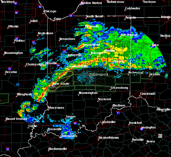 Radar Image for Severe Thunderstorms near Tecumseh, IN at 4/3/2018 12:47 PM EDT