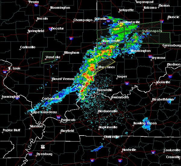Radar Image for Severe Thunderstorms near Vincennes, IN at 4/3/2018 1:35 PM EDT