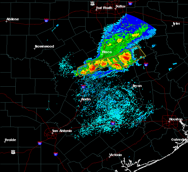 Radar Image for Severe Thunderstorms near Belton, TX at 4/3/2018 12:53 PM CDT