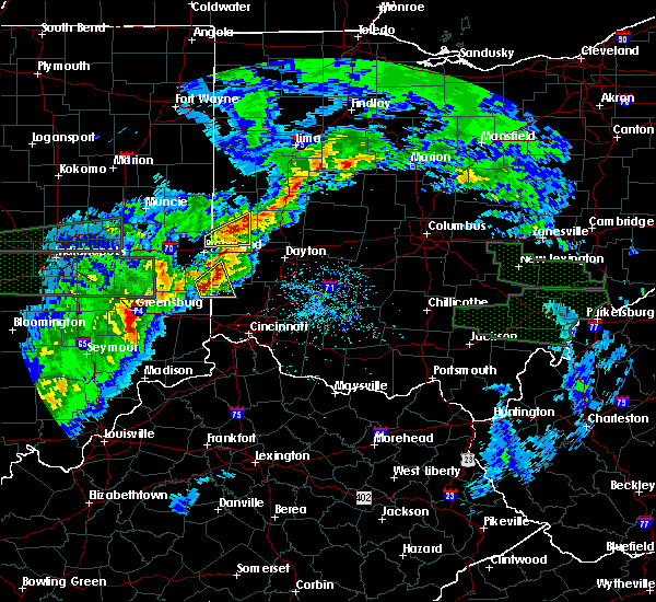 Radar Image for Severe Thunderstorms near Oxford, OH at 4/3/2018 3:43 PM EDT