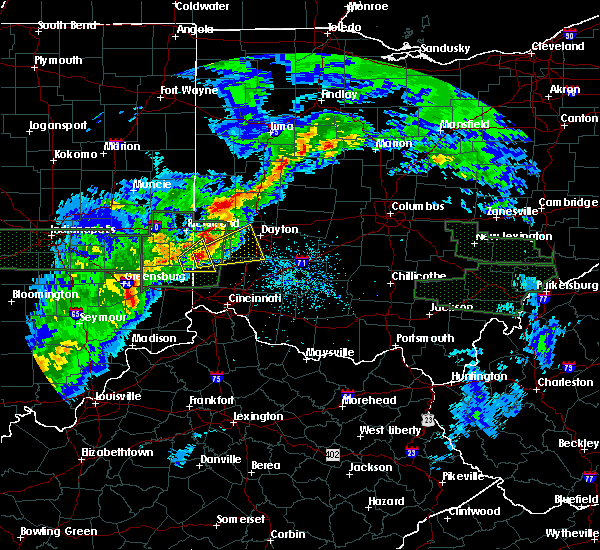 Radar Image for Severe Thunderstorms near Dayton, OH at 4/3/2018 3:49 PM EDT
