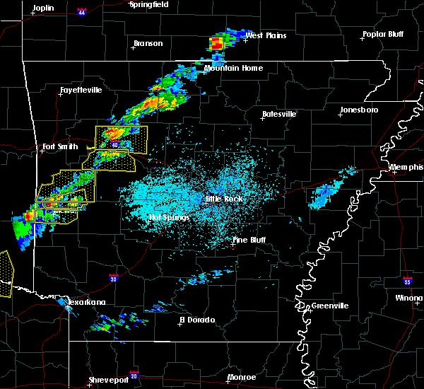 Radar Image for Severe Thunderstorms near Marshall, AR at 4/3/2018 2:55 PM CDT