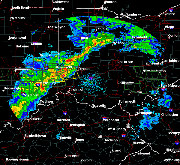 Radar Image for Severe Thunderstorms near Oxford, OH at 4/3/2018 3:56 PM EDT