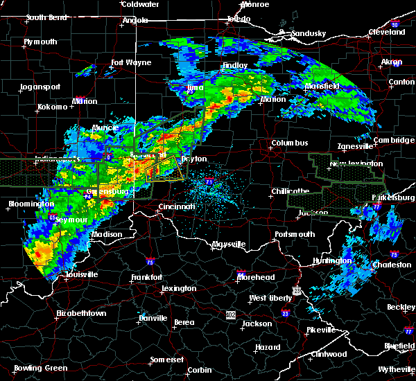 Radar Image for Severe Thunderstorms near New Lebanon, OH at 4/3/2018 4:02 PM EDT