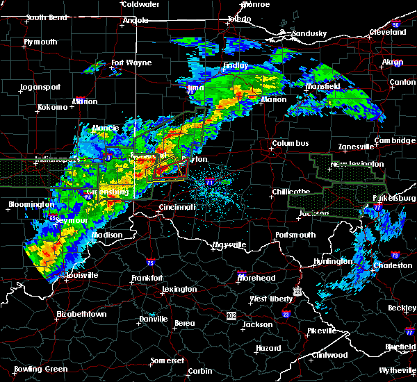 Radar Image for Severe Thunderstorms near New Lebanon, OH at 4/3/2018 4:05 PM EDT
