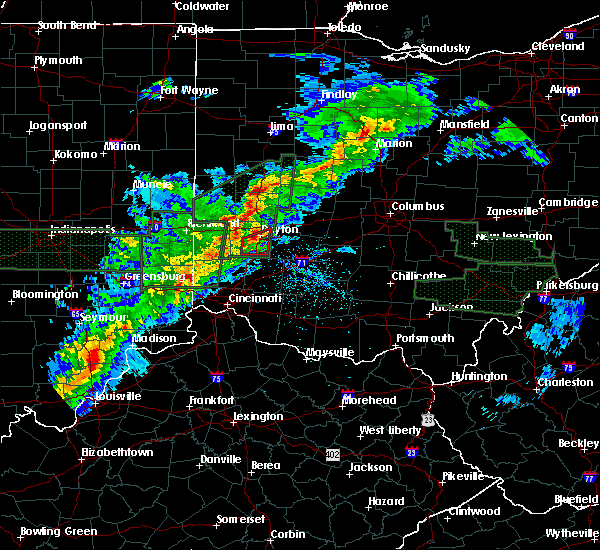 Radar Image for Severe Thunderstorms near Trotwood, OH at 4/3/2018 4:17 PM EDT