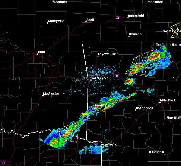 Radar Image for Severe Thunderstorms near Mena, AR at 4/3/2018 3:23 PM CDT