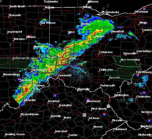 Radar Image for Severe Thunderstorms near Kettering, OH at 4/3/2018 4:24 PM EDT