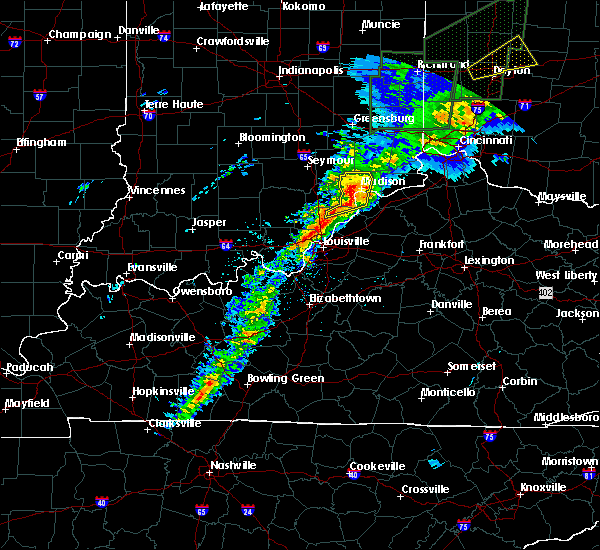 Radar Image for Severe Thunderstorms near Hanover, IN at 4/3/2018 4:40 PM EDT